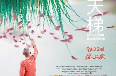 天梯:蔡国强的艺术剧照
